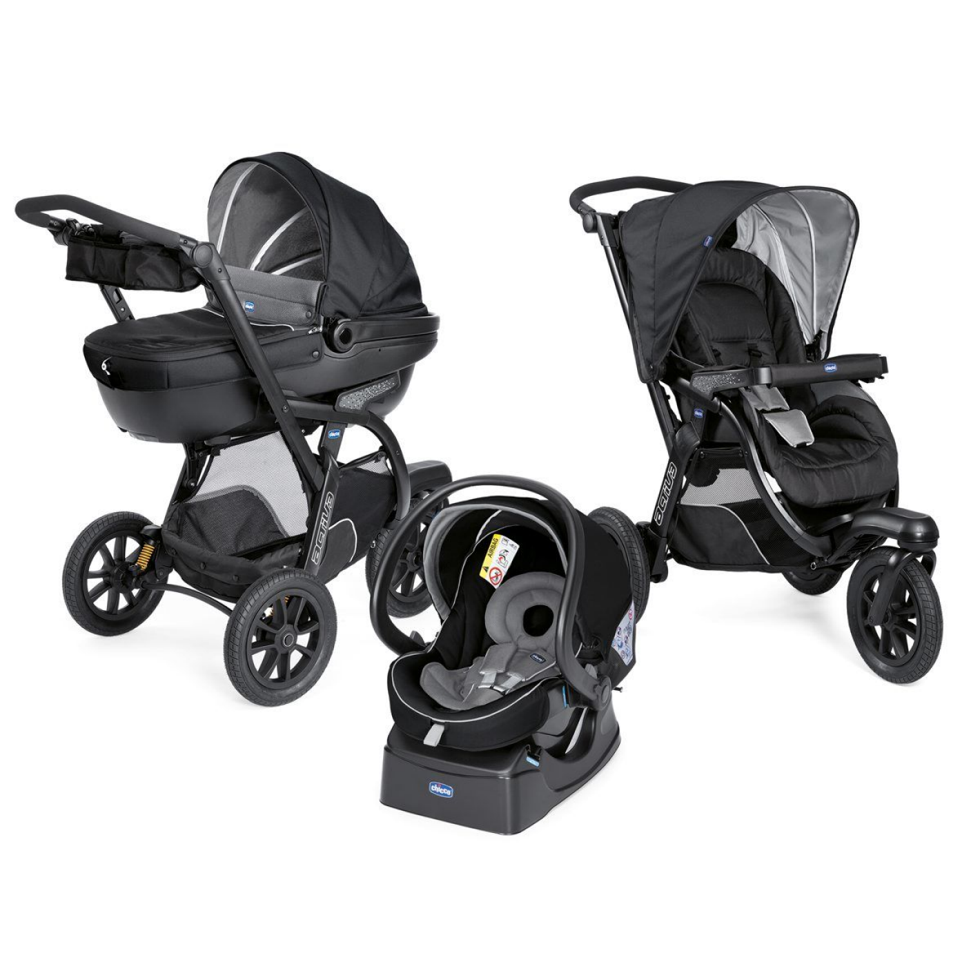 CHICCO Trio Activ3 - Jet Black