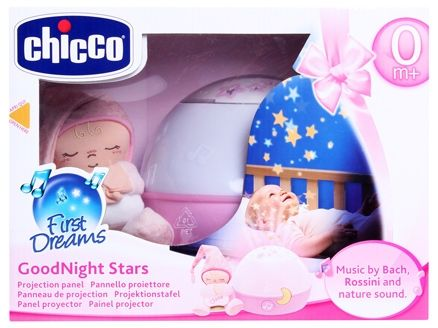 Chicco - Projektor Good Night Stars - ružové
