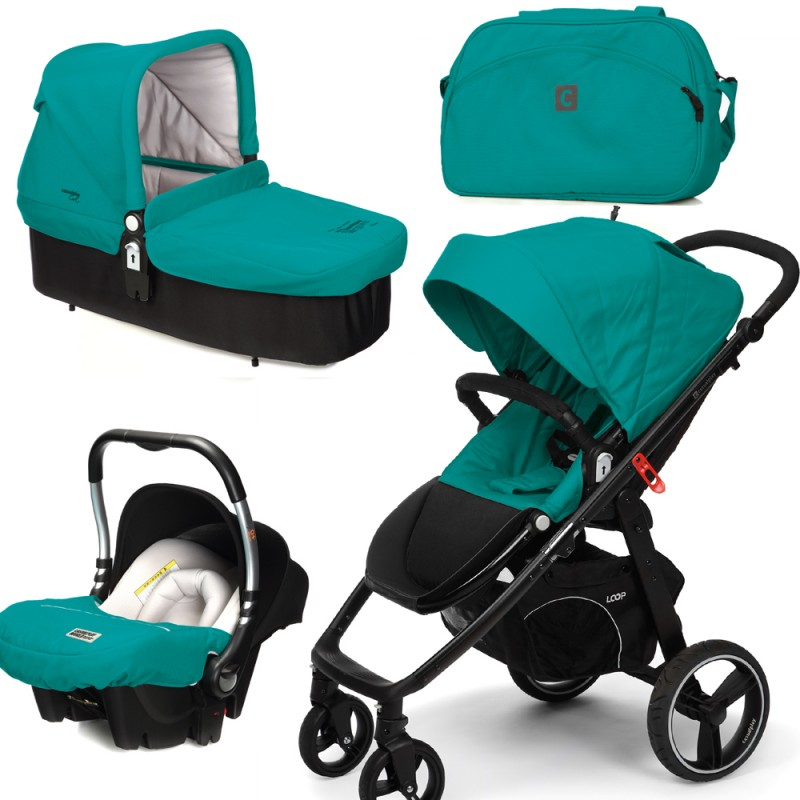 Casualplay Kočík Loop + Baby 0 plus + vanička Cot + Bag 2015 ALLPORTS