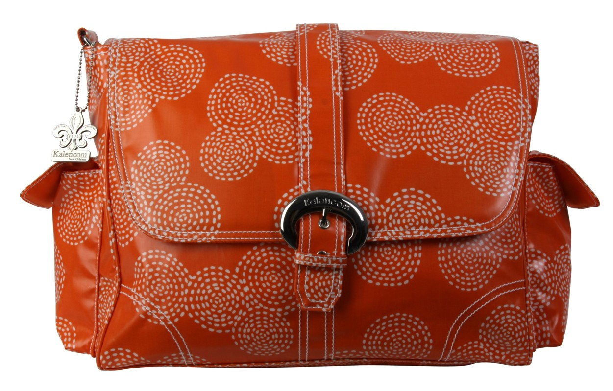 Kalencom Prebaľovacia taška Buckle Bag Stitches Orange