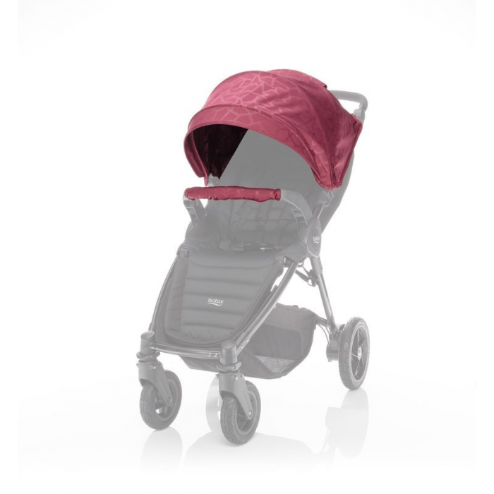 Britax farebný SET LIMITED ku kočíkom B-Agile plus/B-Motion plus - Geometric Wine Red