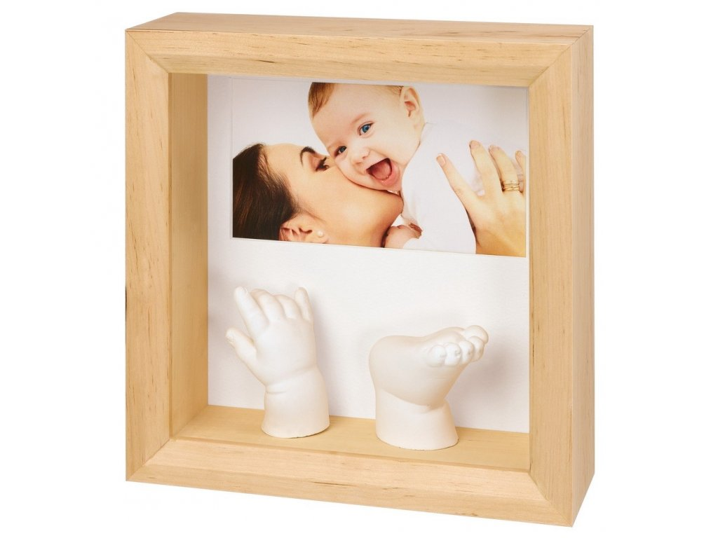 BabyArt - My Baby  Sculpture Frame Natural